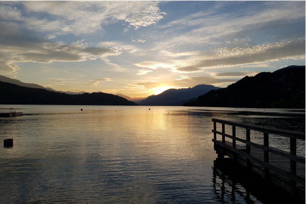 Camping Brunner am See -Sonnenuntergang am See-