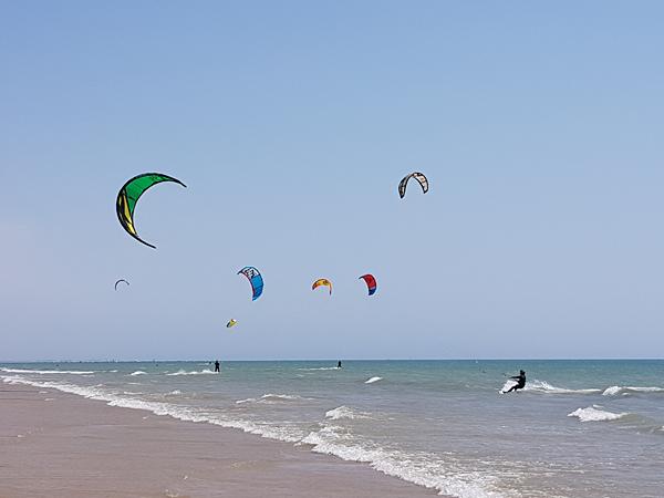 Kitesurfer in Österreich, Ungarn und Norditalien