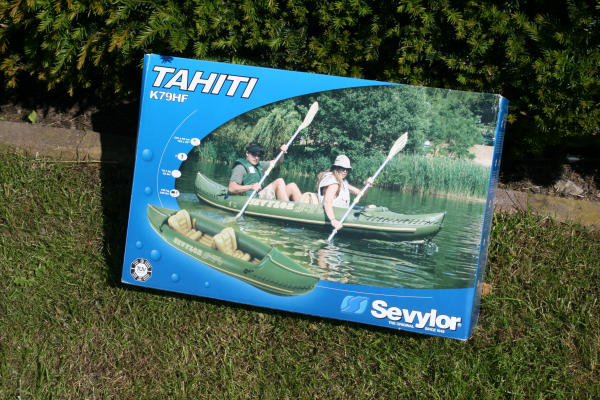Das verpackte Kajak Tahiti von Sevylor